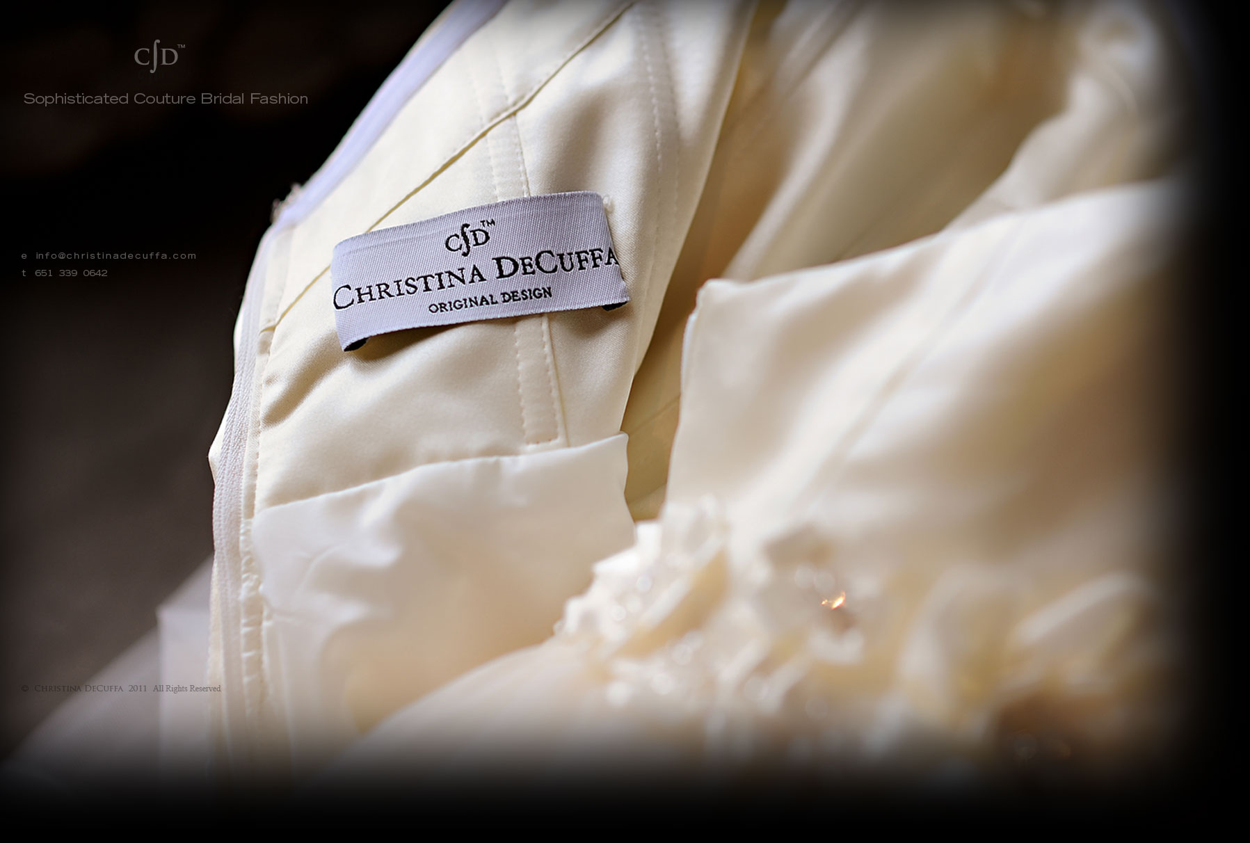 Discover Christina DeCuffa bridal gowns, unique one of a kind wedding dresses exclusively designed for you.